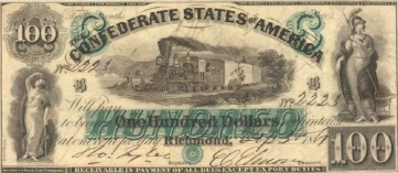 Company Images assorted sizes 100 Dollars the Confederate States of the United States of America Legal Tender 1961 Richmond Virginia