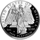 Company Images assorted sizes Commodities - Platinum - American Eagle 2008 Collectors Series 1 troy Oz. .9995 Platinum worth 100 US Dollars