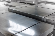 sheet tin metal in production hall