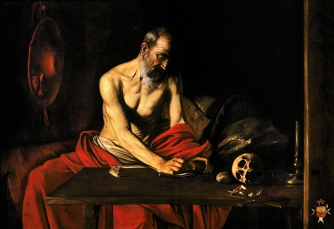 Company Images-Doctors of the Church Saint Jerome Writing- Valletta Malta by Caravaggio small
