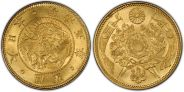 Company Images - currency -Japan Yen -A Classic Japanese Gold Piece Featuring Much Divine Symbology