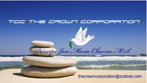 TCC the Crown Coporation Business Card of Company Onwer Prince Jose Maria Chavira MS  ™ ™World Bank ® is a registered trademark of ™Angelcraft Crown World Bank Reserve © all rights reserved In partnership with God's Holy