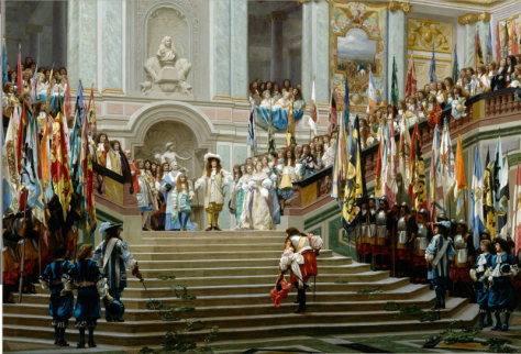 M1 Crown Holdings France - The Palace of Versailles - a Royal Château in Versailles France - The French Royal Estate of Principe Jose Maria Chavira M.S. Adagio I Réception du Grand Condé à Versailles (Jean-Léon Gérôme 1878)
