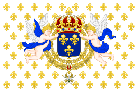 M1 Crown Holdings France - The Palace of Versailles - a Royal Château in Versailles France - The French Royal Estate of Principe Jose Maria Chavira M.S. Adagio I - Royal Standard of the King of France