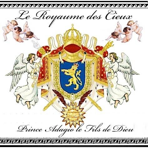 Le manteau des bras royal du roi Principe Jose Maria Chavira - Adagio I - Roi de France et roi de la terre