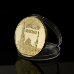 ™Angelcraft Crown World Bank and Reserve.corpvs  -Saudi Arabia II Islam Gold Plated Metal Coin Muslim Haj Allah Bismillah Koran Souvenir Coin