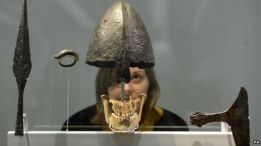 ™Angelcraft Crown World Bank and Reserve -Viking artefacts at the British Museum Image caption A Viking helmet and jawbone