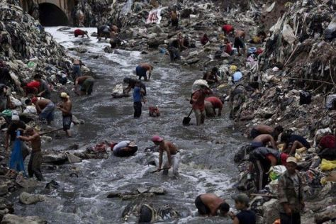 Guatemala City's largest garbage dump is nicknamed The Mine for the treasure that people throw away. Many angels were forced by masons to make it a home